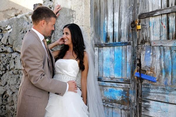 Rustic Glam Γάμος στη Σαντορίνη | Christina & Jonathon