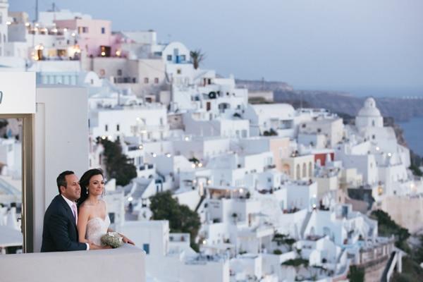 Chic & elegant γαμος στη Σαντορινη | Αντιγονη & Ted