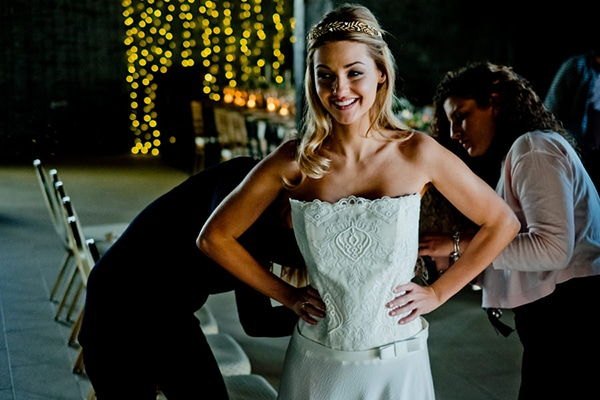 Backstage scenes of the Thessaloniki photo shoot with bridal magazine Cozy Fairytales