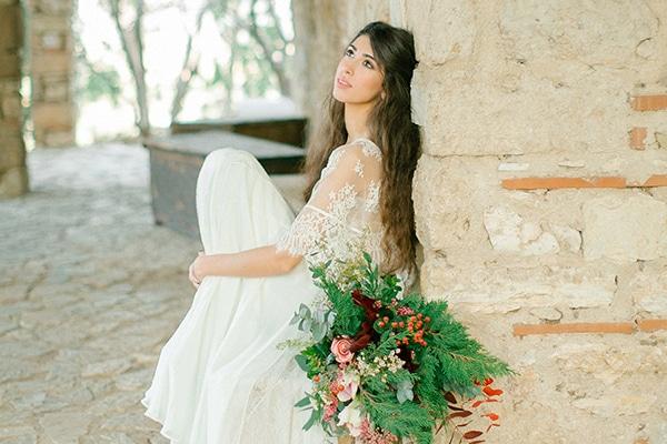 Φωτογραφηση με θεμα boho chic γαμος με χρωμα marsala