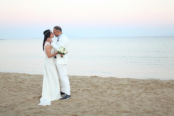 Chic μποέμ γάμος στην παραλία | Βίκυ & Γιάννης