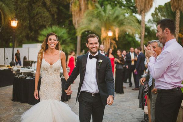 Elegant γάμος με χρυσό και μαύρο στη Λευκωσία | Πάνια & Χάρης