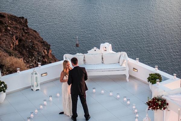 Βιντεο με ρομαντικη προταση γαμου στη Σαντορινη |Janelle & Ben