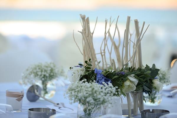 Στολισμος γαμου με chic θαλασσινο θεμα