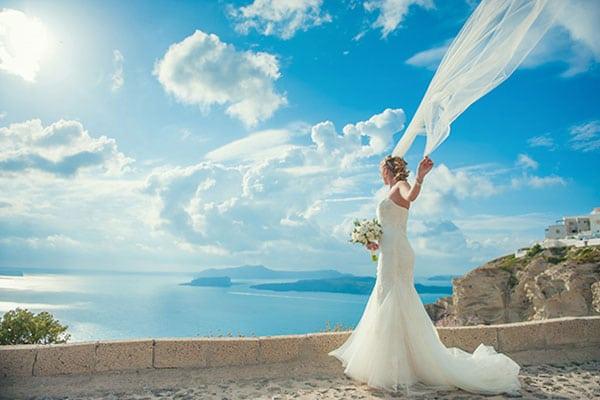 Shabby chic γάμος στη Σαντορίνη | Laura & Paul