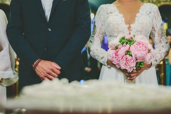 Vintage γάμος με ροζ παιώνιες | Έφη & Δημήτρης