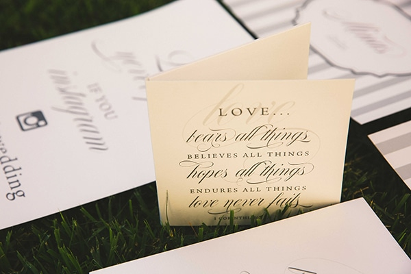 Elegant white and shades of grey wedding ideas