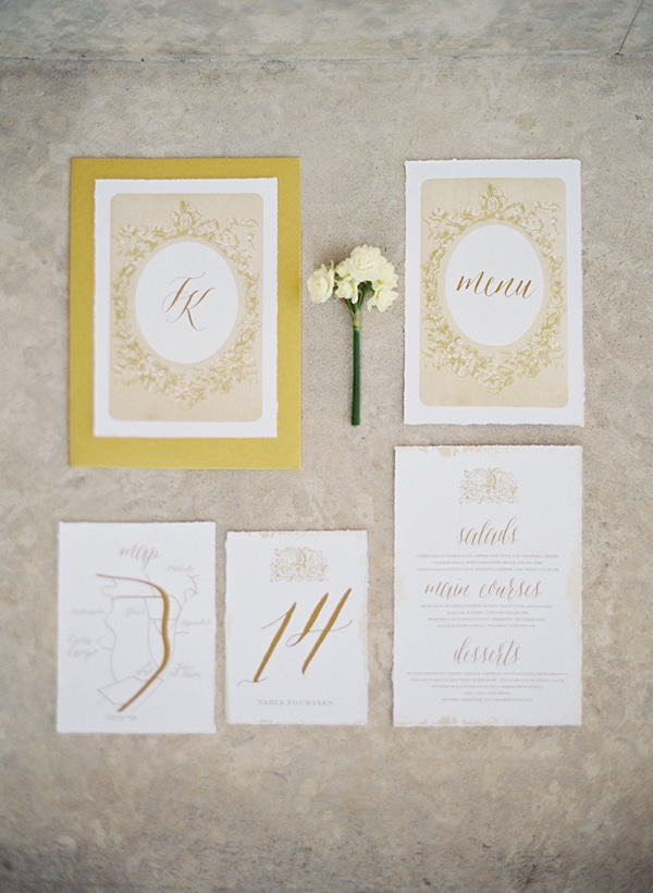 gold-wedding-stationery