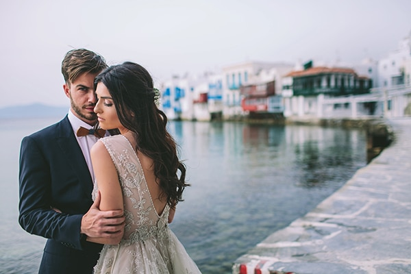 Indigo blue and copper wedding inspiration in Mykonos
