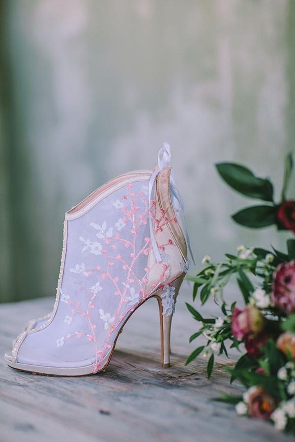 Νυφικά παπούτσια ροζ