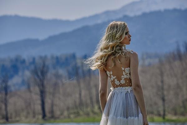Μαιρη Μπαρολα Νυφικα | Lake photoshoot