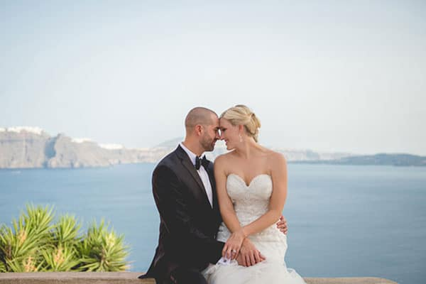 Romantic wedding video in Santorini | Kassidy &David