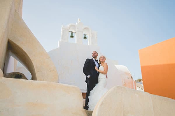 Elegant καλοκαιρινός γάμος στη Σαντορίνη | Kassidy & David