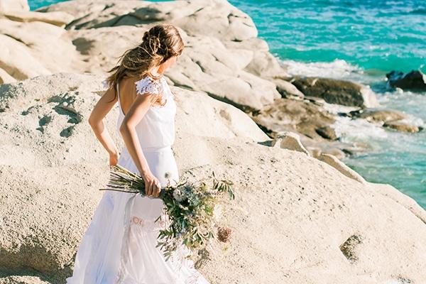 Dusty blue wedding inspirational shoot