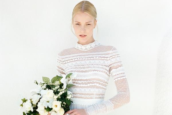 Ethereal Costarellos wedding dress