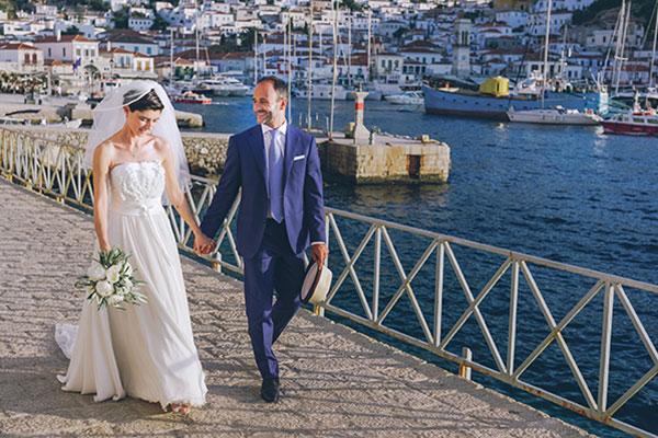 Ρουστίκ γάμος στην Ύδρα | Ελίζα & Λούκα