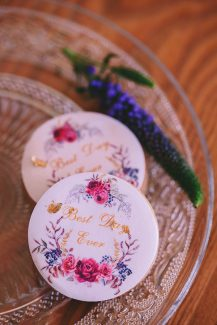 Hand painted wedding cookies