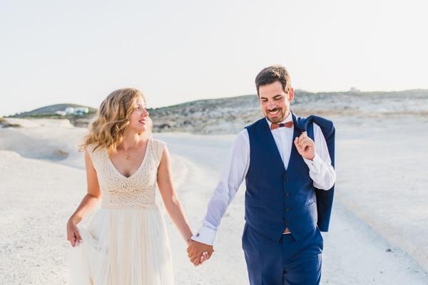 Ρομαντικος γαμος στη Μηλο | Ιωαννα & Πανος