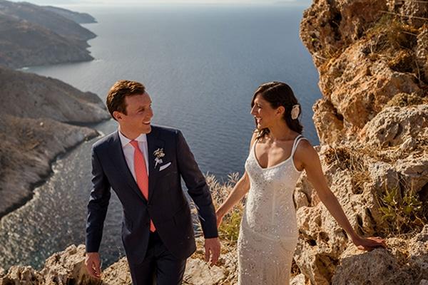 Ρομαντικος destination γαμος στη Φολεγανδρο | Emily & Mark