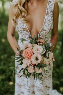 Νυφική ανθοδέσμη για μποεμ γάμο