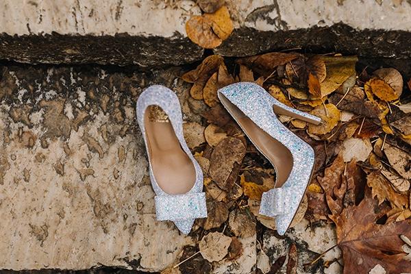 Νυφικά παπούτσια με glitter