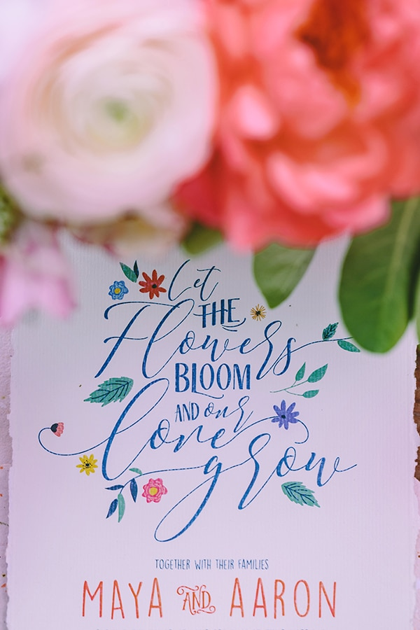 Bright and colorful invitations
