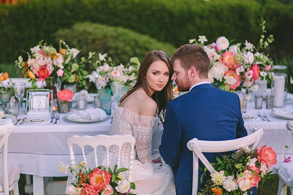 Bright and colorful summer wedding inspirational shoot in Cyprus