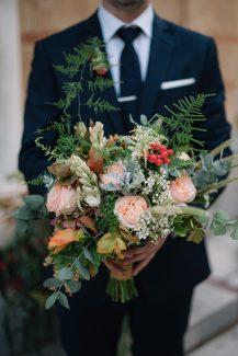 Νυφική ανθοδέσμη για φθινοπωρινό γάμο