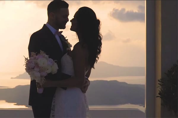 Dreamy wedding in Santorini | Kaela & Bobby