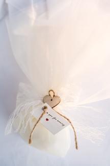 Ρομαντικη μπομπονιερα γαμου
