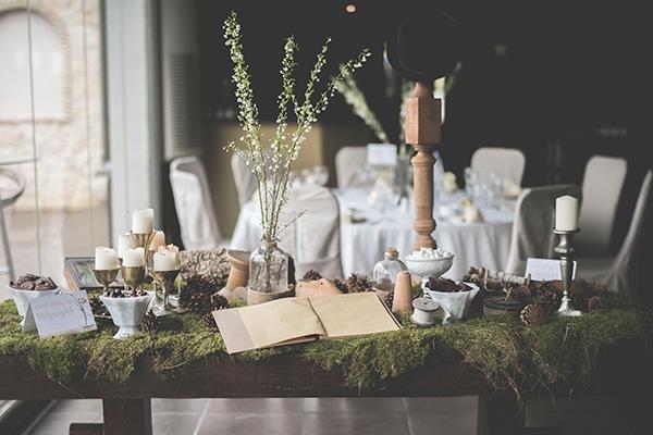Boho-Chic διακοσμηση για τραπέζι ευχών