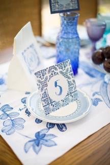 Μπλε στολισμος γαμου