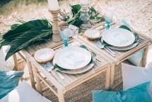 Boho διακοσμηση  με chic tropical πινελιές για γαμο