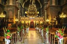 Στολισμος εκκλησιας με εξωτικα λουλουδια