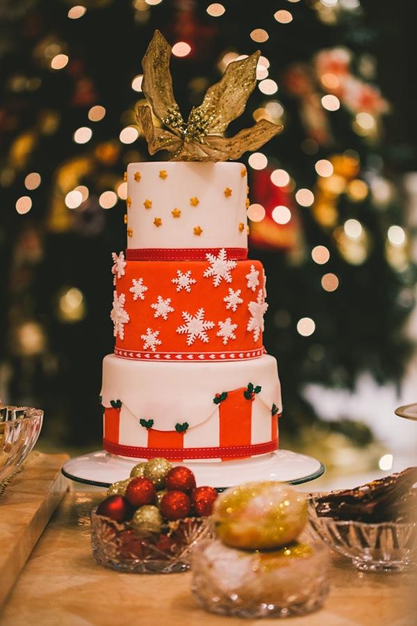 Χριστουγεννιατικη τουρτα γαμου