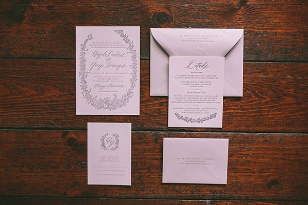 Chic προσκλητηρια γαμου