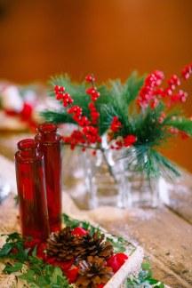 Διακοσμηση τραπεζιου για γαμο τα χριστουγεννα