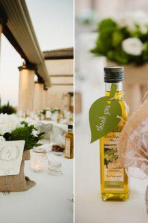 Μπουκαλι με ελαιολαδο: πρωτοτυπο δωρο καλεσμενων για destination γαμο