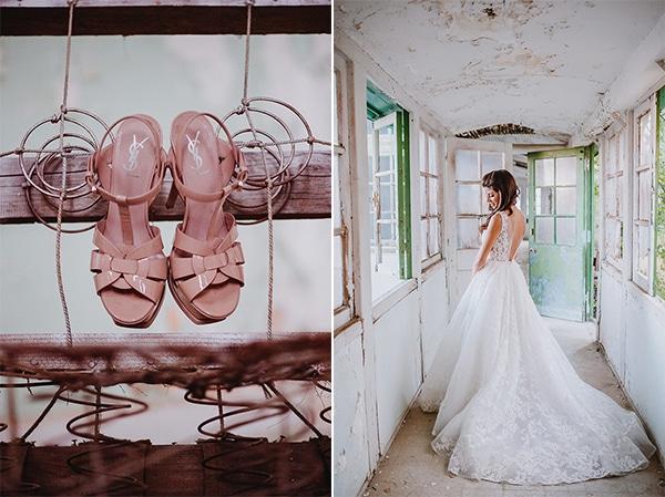 Μπεζ παπουτσια νυφης