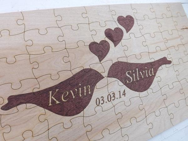 Ευχολογιο γαμου – ξυλινο puzzle