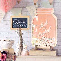Ευχολογιο γαμο mason jar