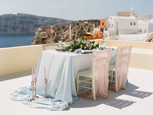 Pink and rose gold διακοσμηση τραπεζιου