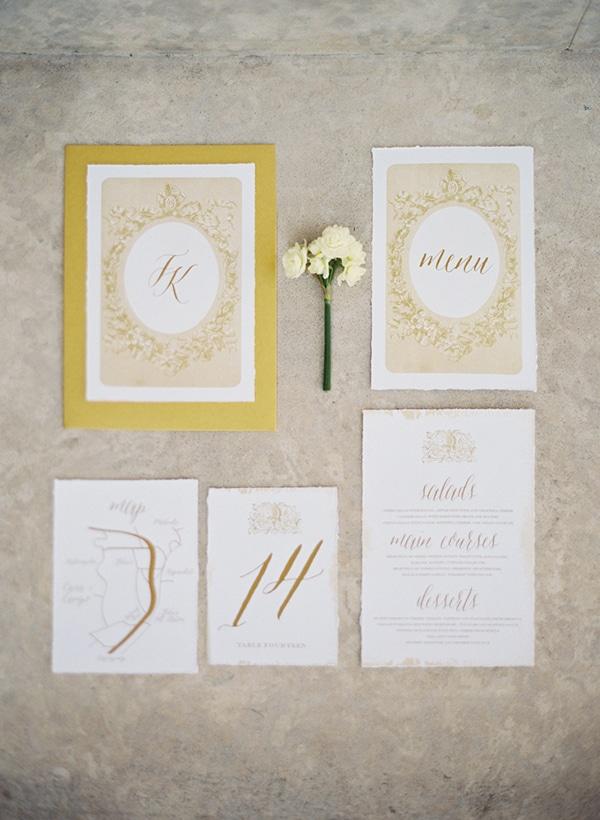 Χρυσα προσκλητηρια γαμου