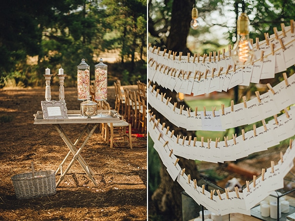 Wedding seating arrangement