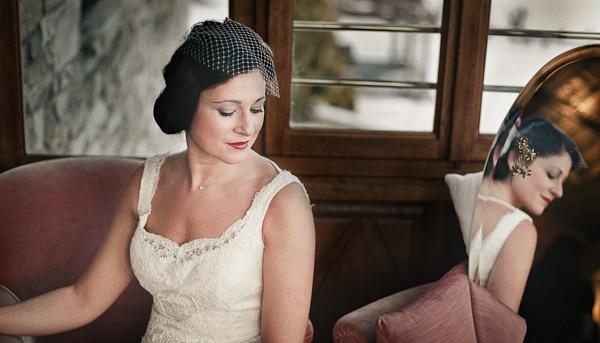 Vintage style μακιγιαζ νυφης