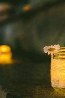 Στολισμος γαμου με κερια