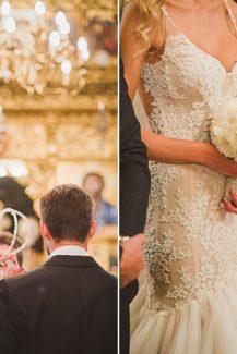 Λευκή ανθοδέσμη γάμου με ορτανσίες