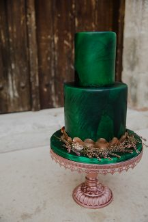 Emerald green τουρτα γαμου