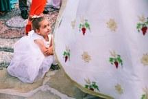 Ρομαντικο φορεμα απο τουλι για παρανυφακια