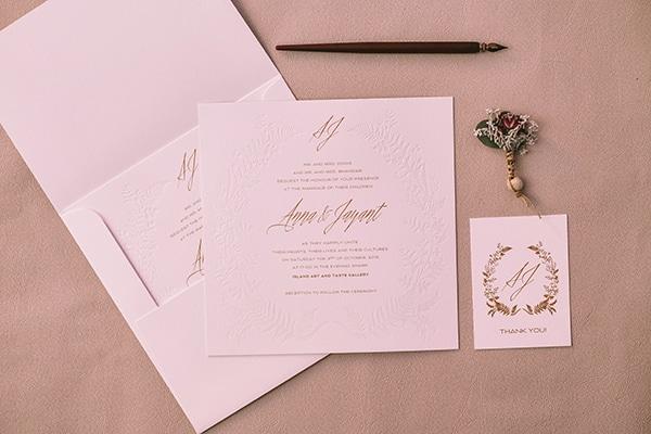 Προσκλητηρια γαμου με χρυσοτυπια